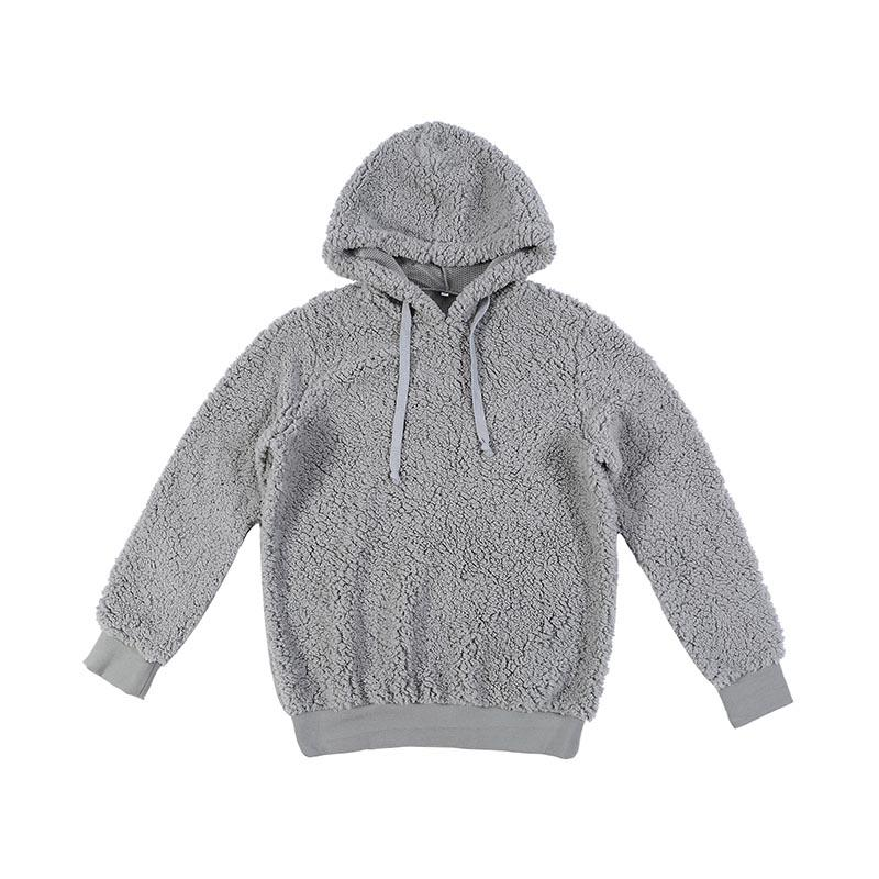 MXDSS372 Warm Furry Sherpa Fleece Oversized Hoodie