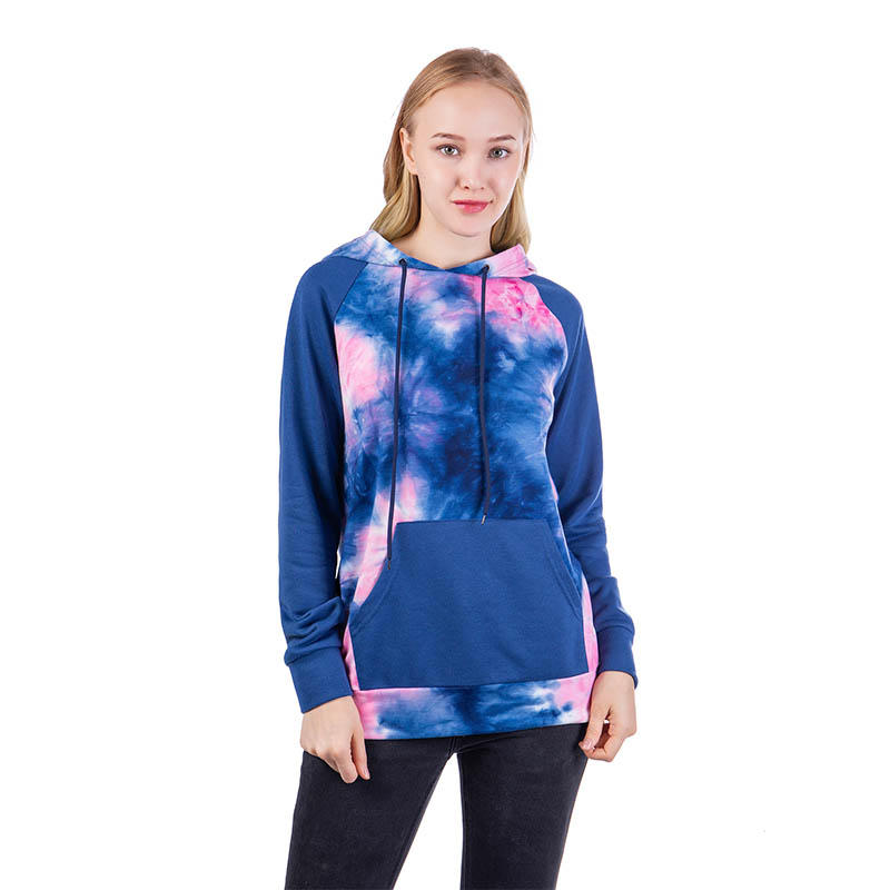 Tie Dye Ladie's Pullover Hoodie With Patch Pocket MXDSS612