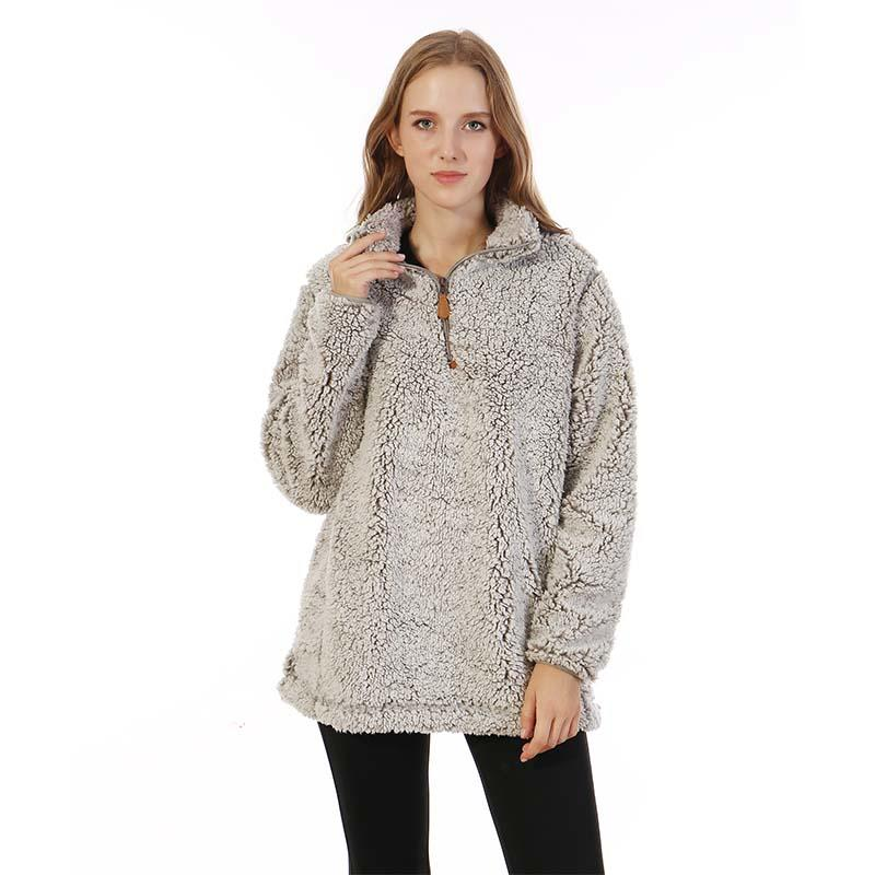 Frosty Cozy Sherpa Fleece Pullover MXDSS173