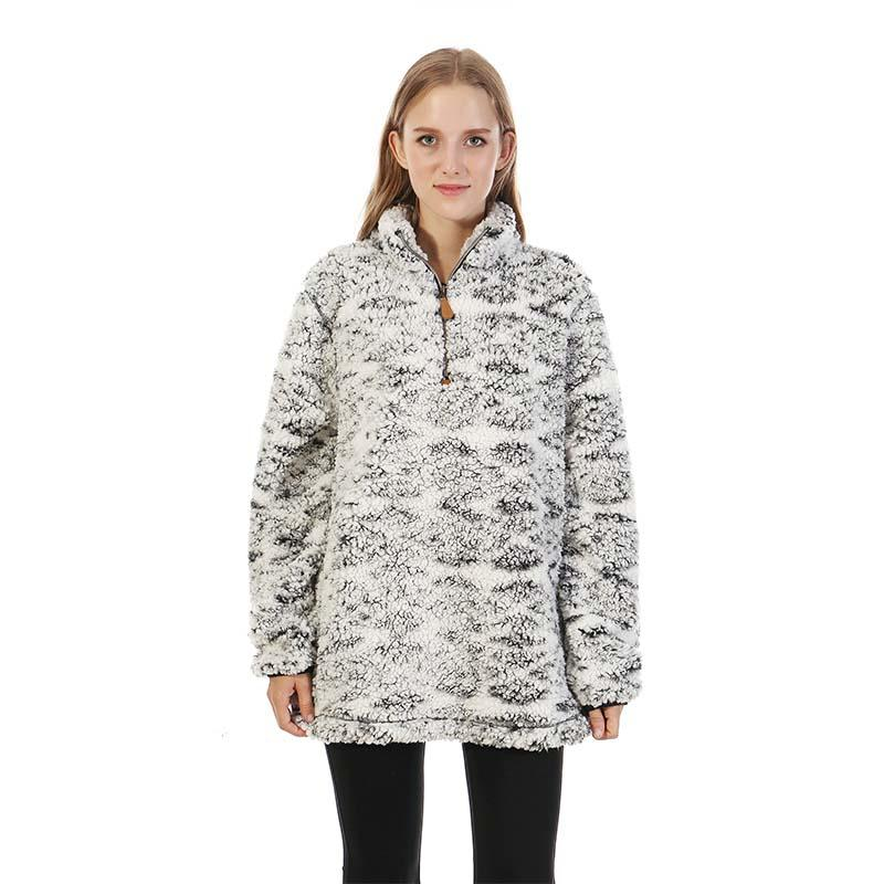 MXDSS325 Aztec Frosty Sherpa Fleece Pullover