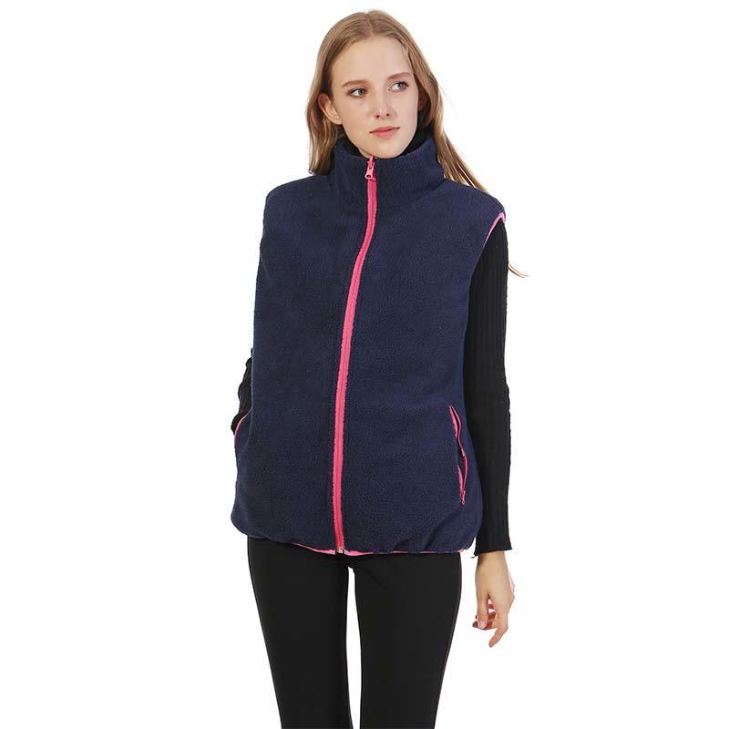 Soft Women's Reversible Sherpa Fleece Plaid Vest MXDSS342