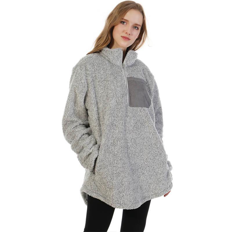 MXDSS355 Double Face Sherpa Fleece Pullover