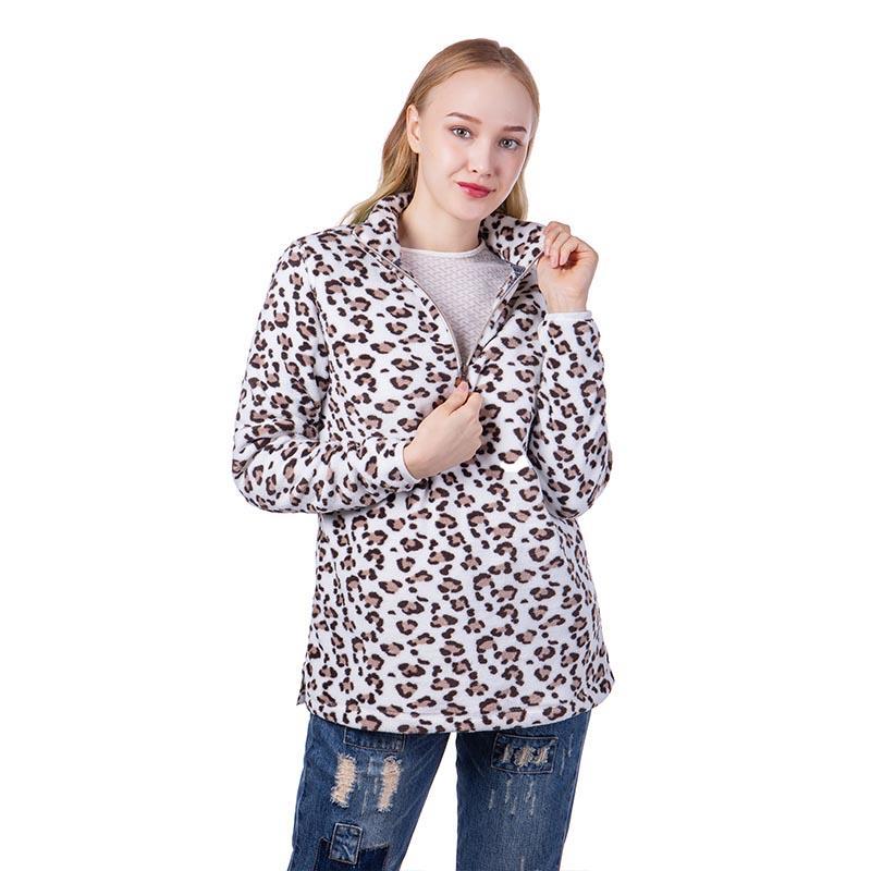 MXDSS488 Cuddle Fleece Leopard Pullover