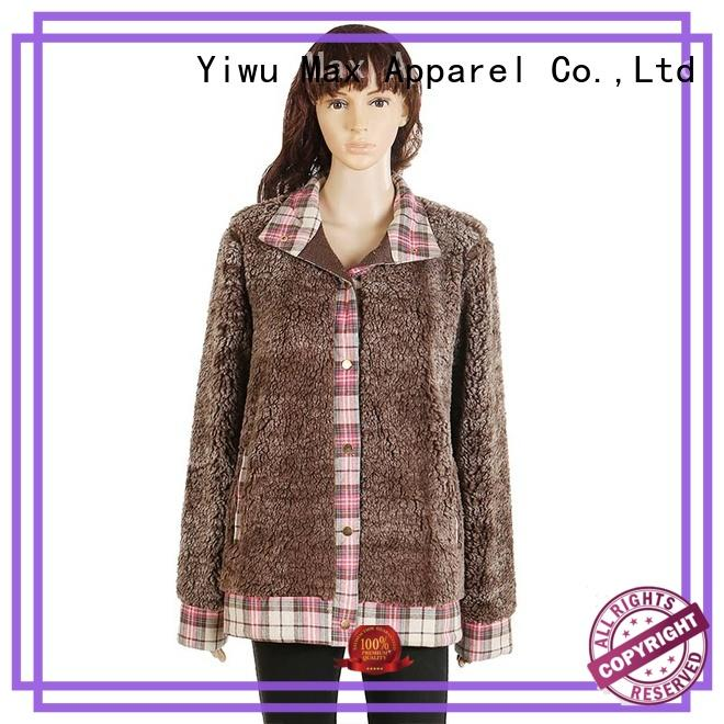Max Apparel button cozy fleece jacket for wholesale for winter