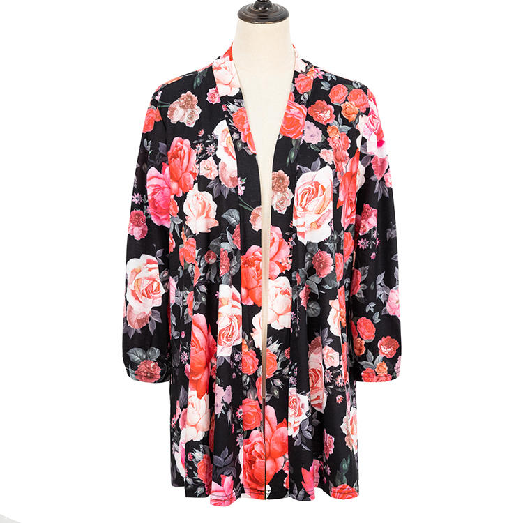 Hot Sales Women Long Sleeves Casual Lace Up Summer Kimono MXDSS706
