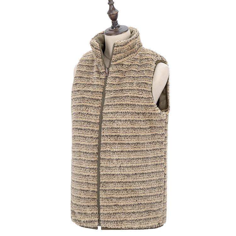 2020 New Arrival Women Fashion Quilted Reversible Fleece Vest MXDSS725