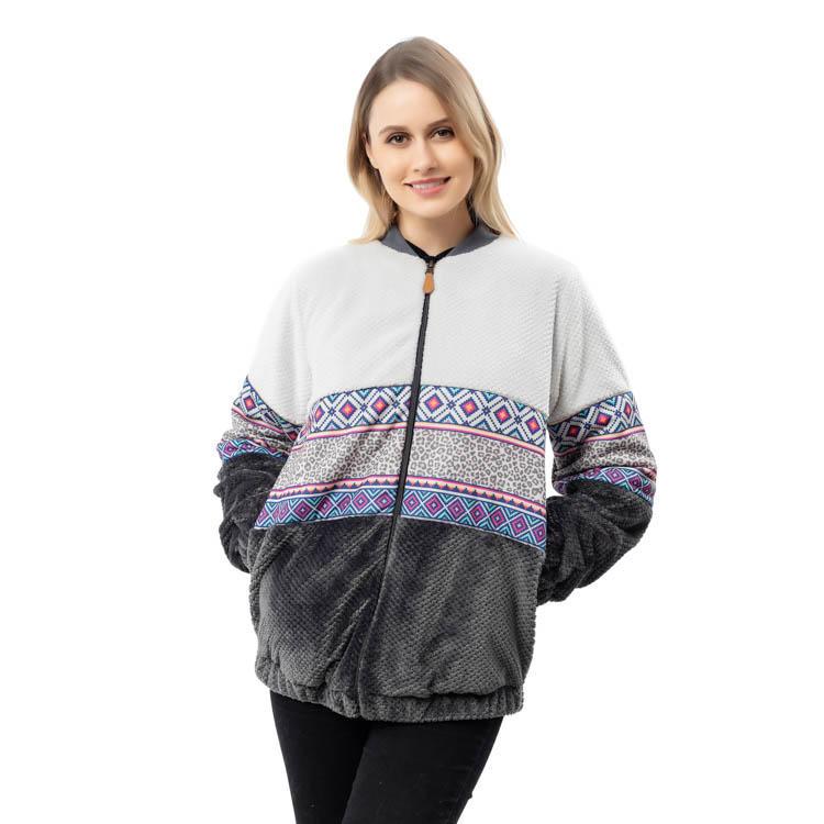 Yiwu Wholesale Pineapple Fleece Fashion Aztec Jacket MXDSS798