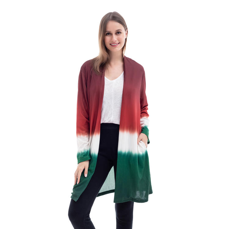 Wholesale Women Fashion Tie Dye Stripe Cardigan MXDSS1003