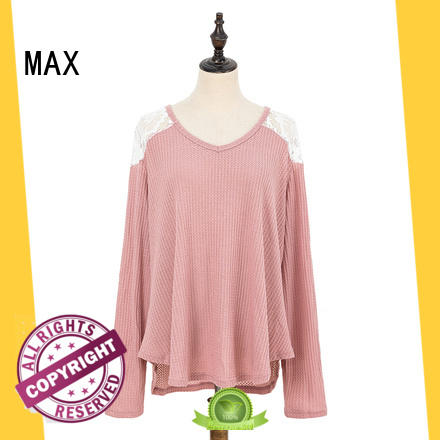 Max Apparel popular long sleeve tops in different color for woman