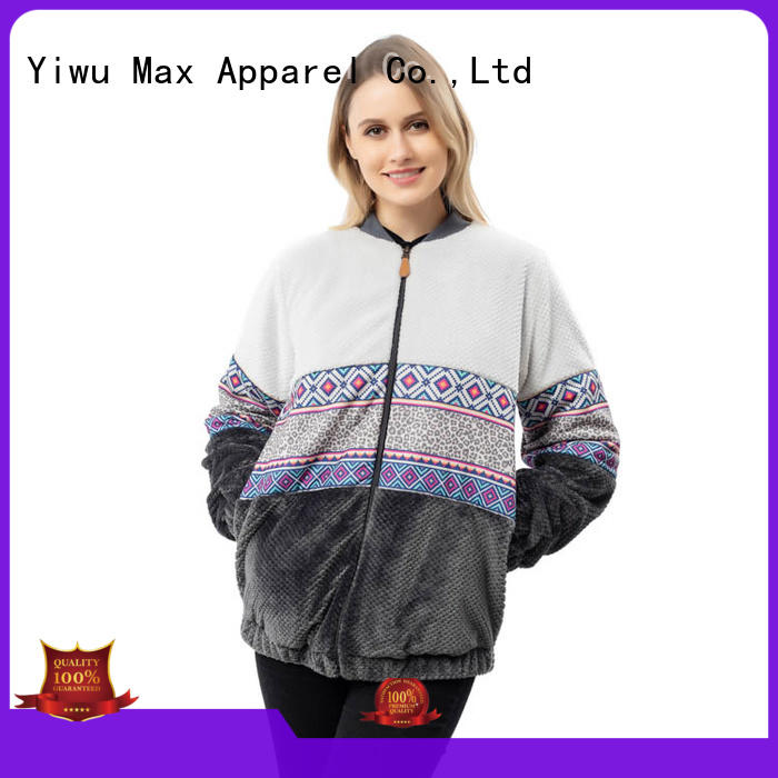 Max Apparel pineapple cozy fleece jacket for wholesale for woman