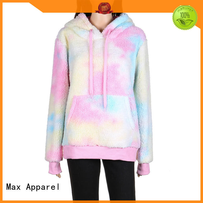 Max Apparel inexpensive tie dye hoodie for wholesale for winter