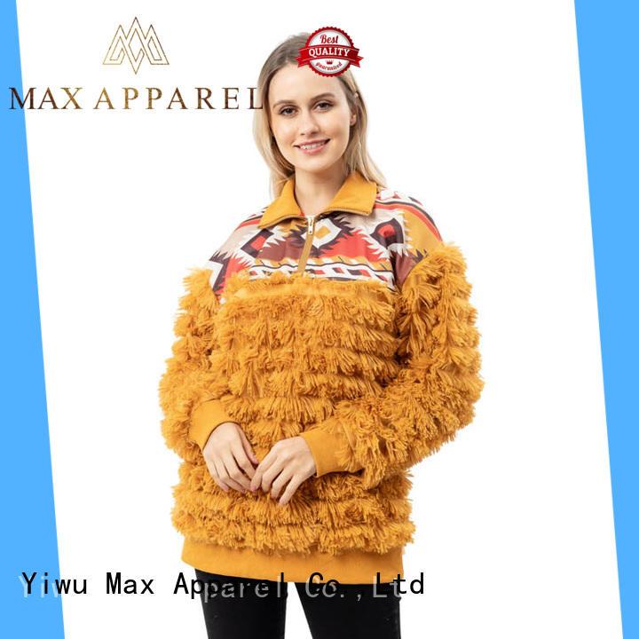 Max Apparel womens fleece quarter zip pullover for wholesale for outdoor activities