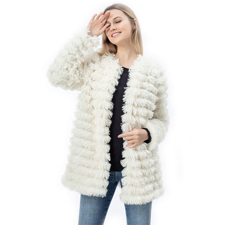 Yiwu Wholesale Fashion Shaggy Faux Fur Women Jacket MXDSS770