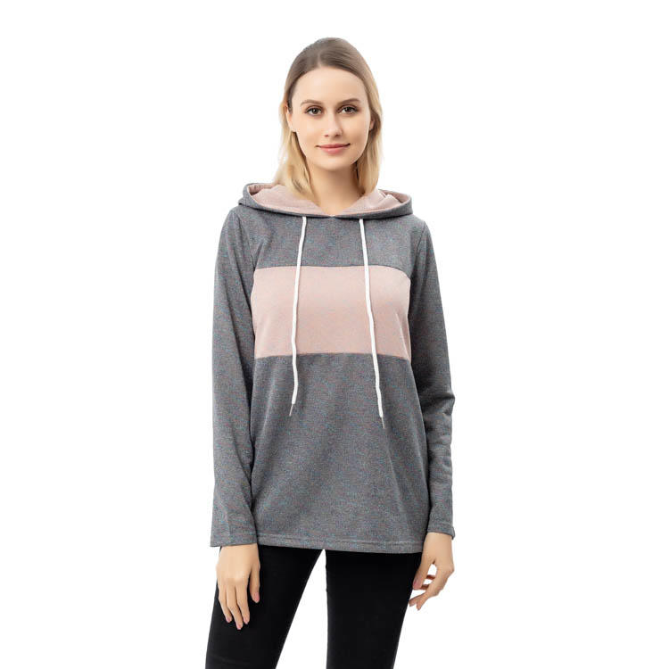 Yiwu Factory Wholesale Casual Color Block Hoodie MXDSS783