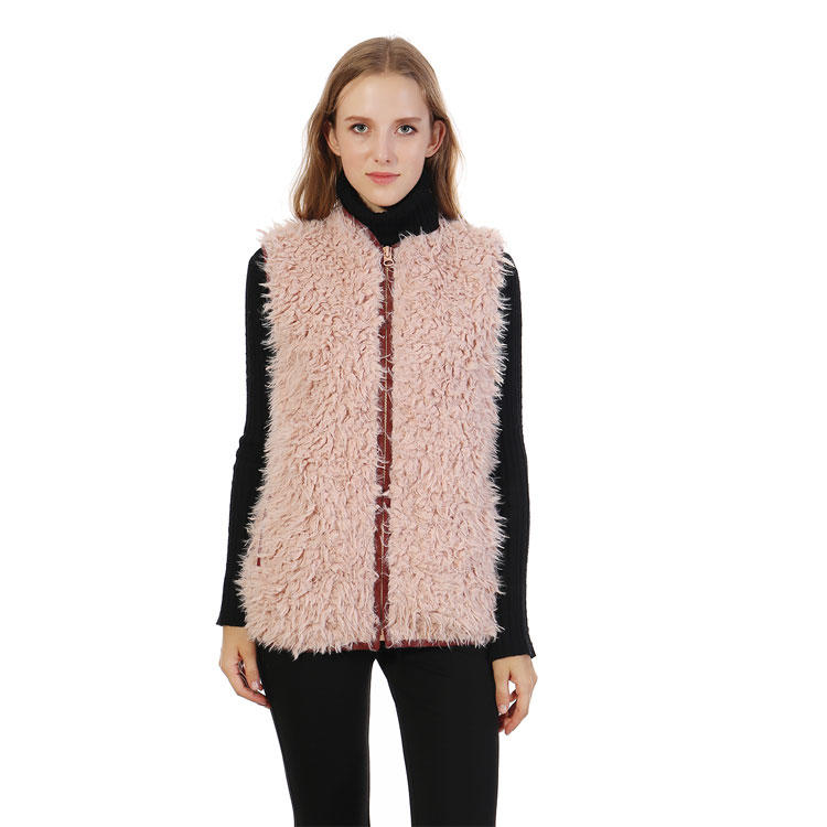 YiWu Factory Hot Selling Faux Fur Women Vest  MXDSS333