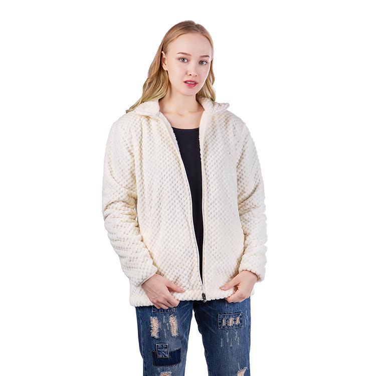 Yiwu Factory New Arrival Women Casual Pineapple Fleece Jacket MXDSS545