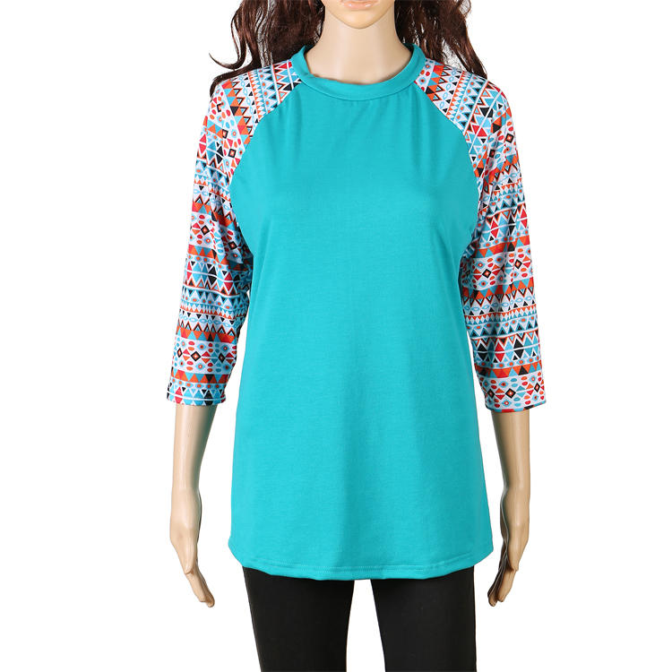 Yiwu Factory Fashionable Soft Women Raglan With 3/4 Sleeves MXDSS495