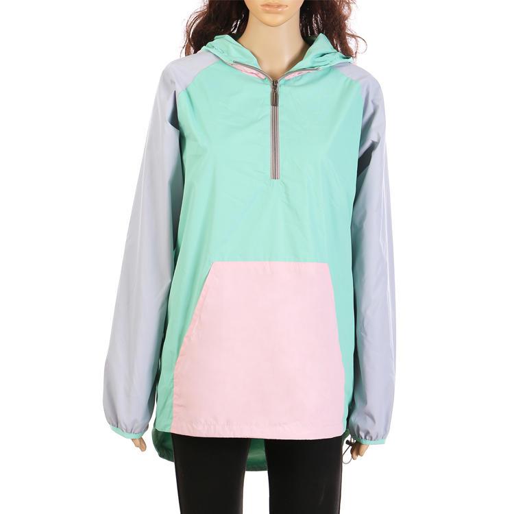 Yiwu Wholesale Casual Women Color Block Raincoat MXDSS305