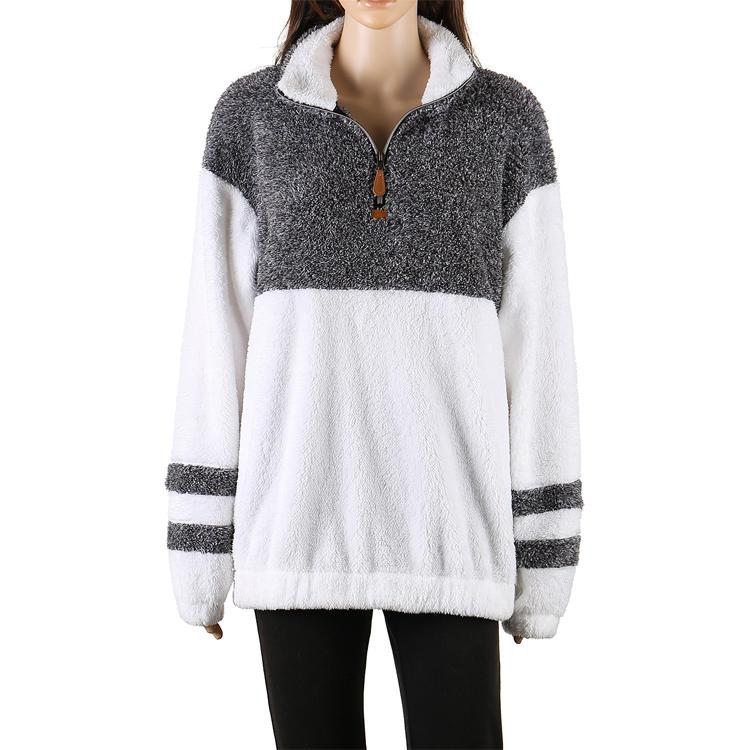 Hot Selling Women's 1/4 Zipper Sherpa Fleece Pullover MXDSS512
