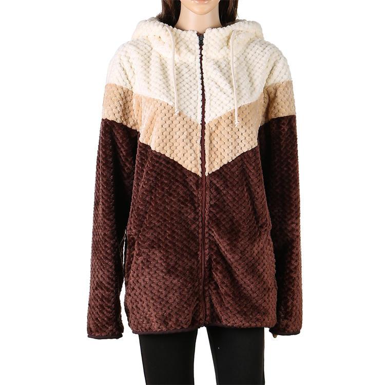 Hot Selling Color Block Women Pineapple Fleece Hoodie MXDSS534