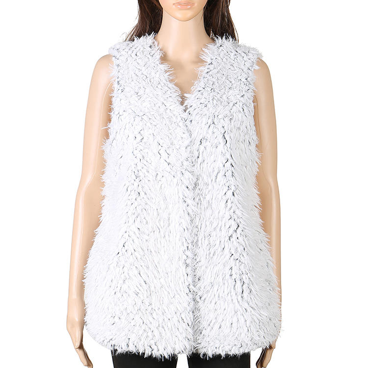 Wholesale Frosty Faux Fur Fleece Women Vest MXDSS570