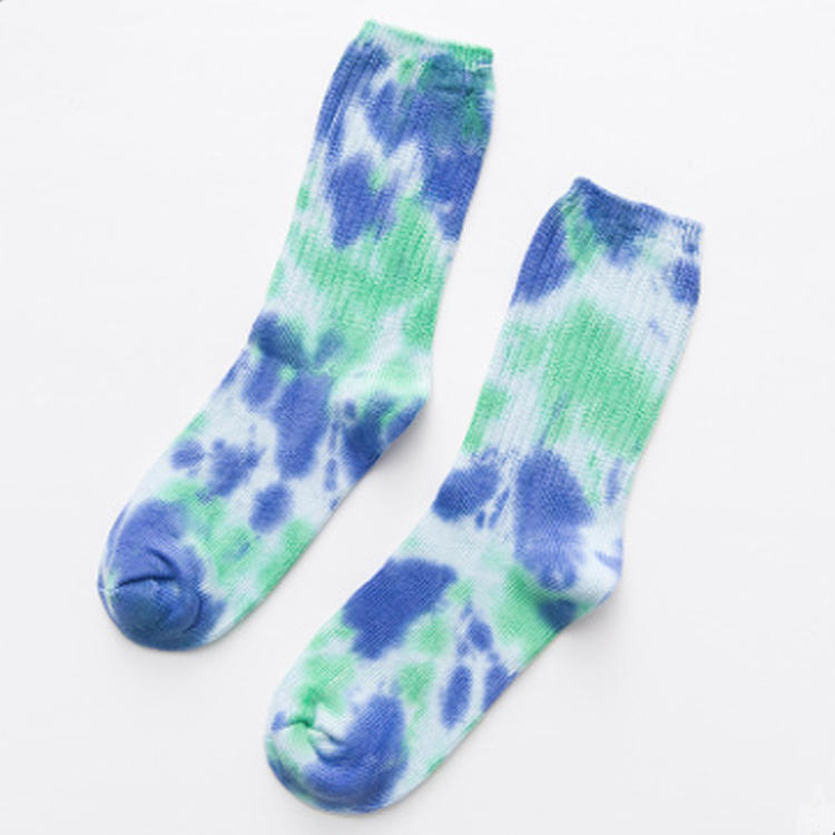 New Arrival Knitted Cotton Tie Dye Socks MXDSC001