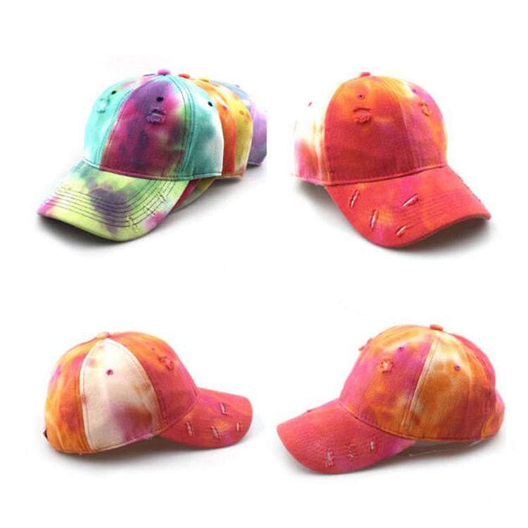 Hot Selling Tie Dye Distressed Baseball Hats MXDSH001