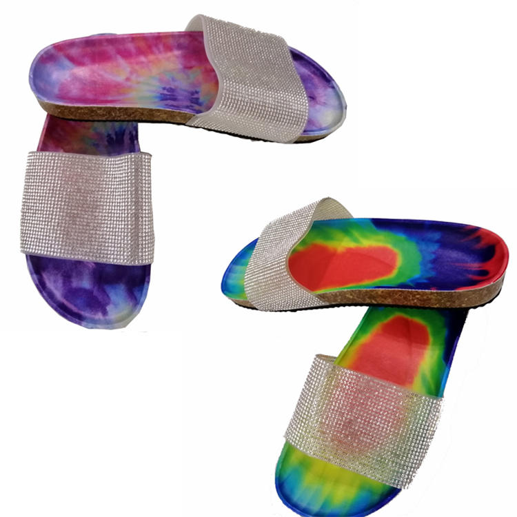 New Arrival Rainbow Tie Dye Sandals For Women MXDSH001