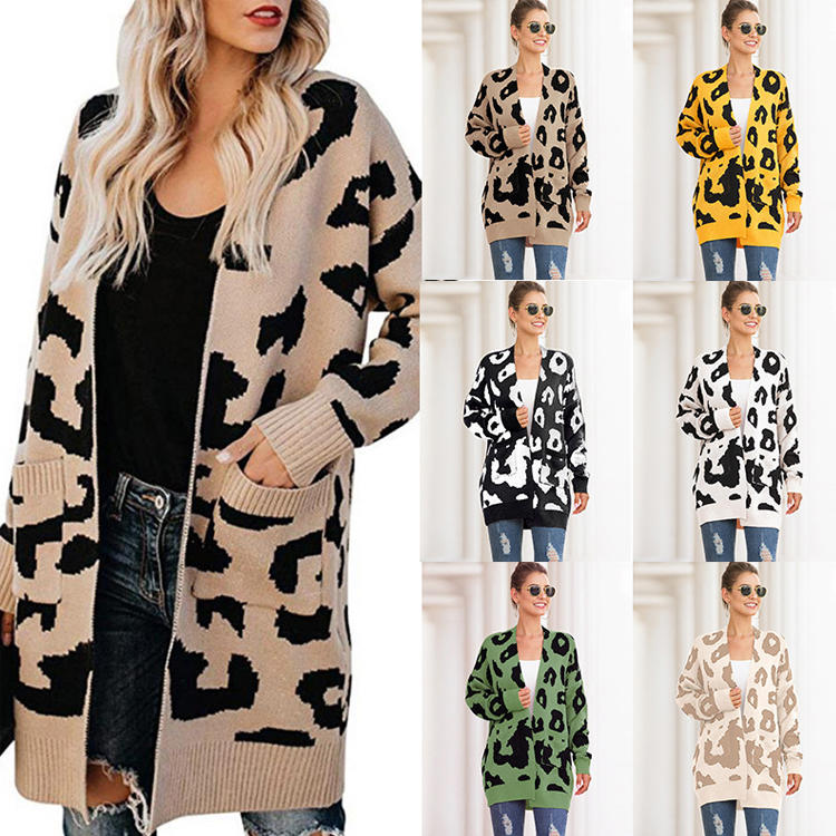 New Arrival Women's Sweater Leopard Cardigan MXDSS103