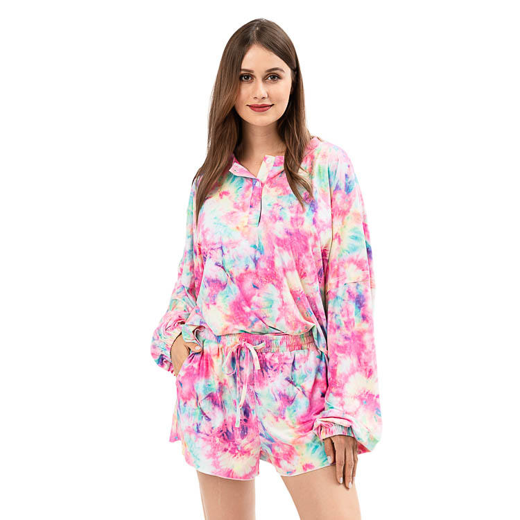 New Design Summer Tie Dye Two Piece Set MXDSS925