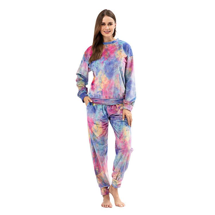 Yiwu Wholesale Long Sleeve Tie Dye Two Piece Set MXDSS928