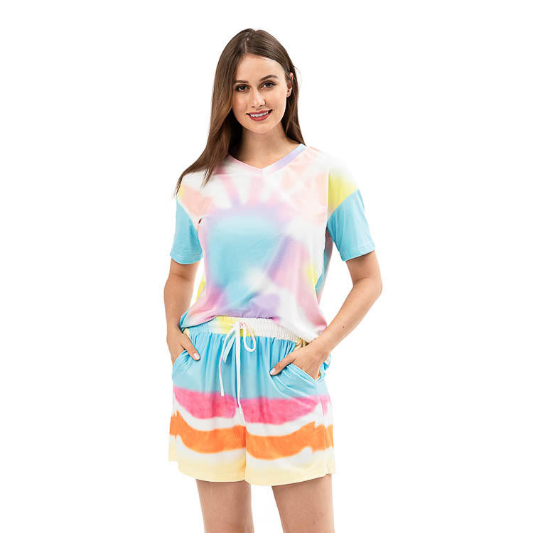High Quality Ladie's Summer Tie Dye Two Piece Set MXDSS931