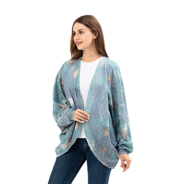New Design Casual Tie Dye Comfort Cardigan MXDSS927