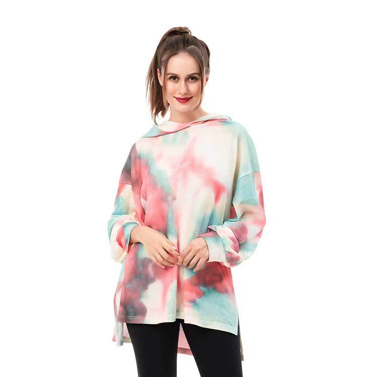 New Design Women's Tie Dye Long Tops MXDSS946