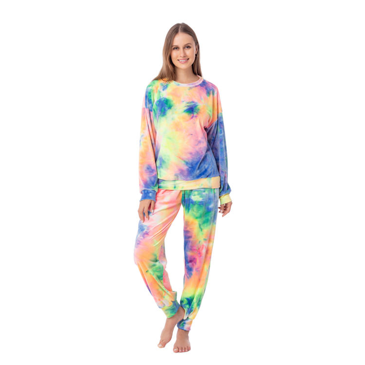 New Arrival Women' Tie Dye Casual Two Piece Set MXDSS974