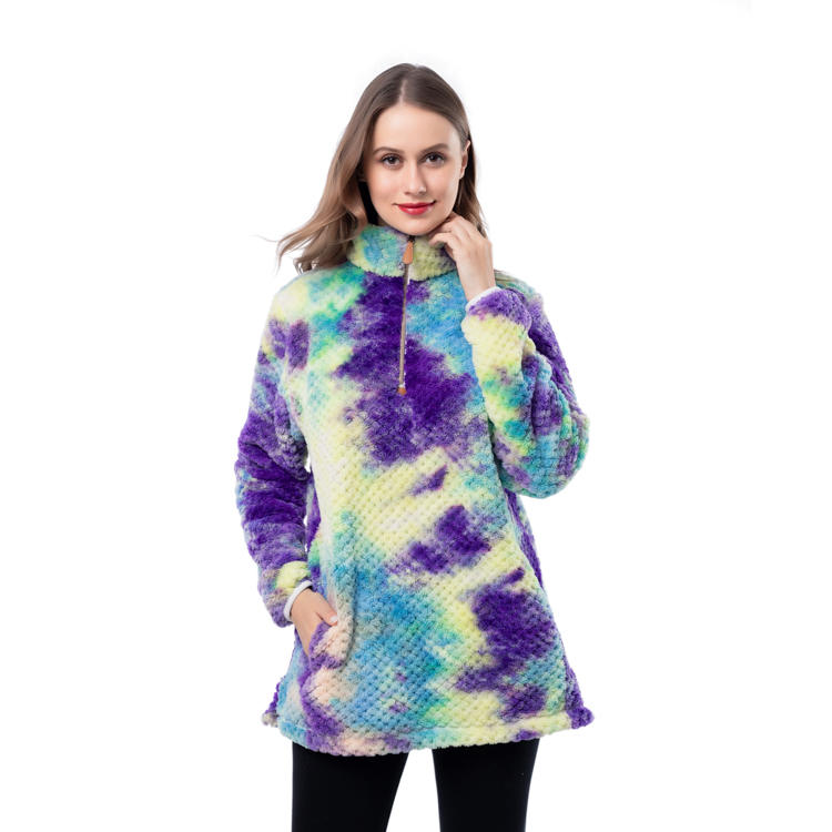 New Arrival Pineapple Fleece Tie Dye Pullover MXDSS981