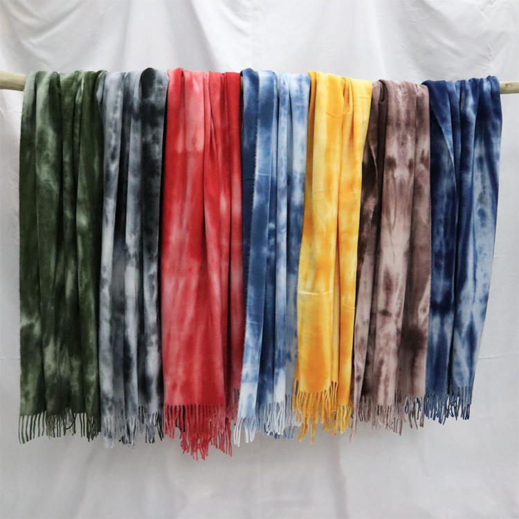2020 New Arrival Winter Tie Dye Cotton Scarves With Tassel For Ladies MXDSS599