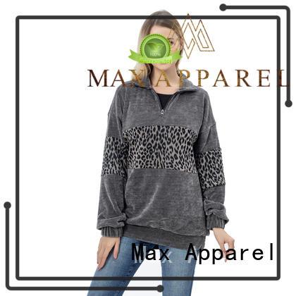 Max Apparel fashion women's fleece pullover free sample for winter