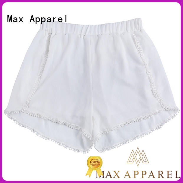 Max Apparel printed casual shorts for women bulk production for woman