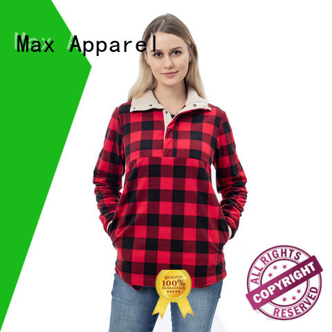 Max Apparel cozy fleece pullover check now for winter