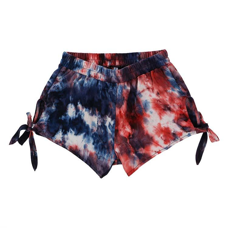MXDSS459 FACTORY Low Moq Tie Dyed Women Shorts