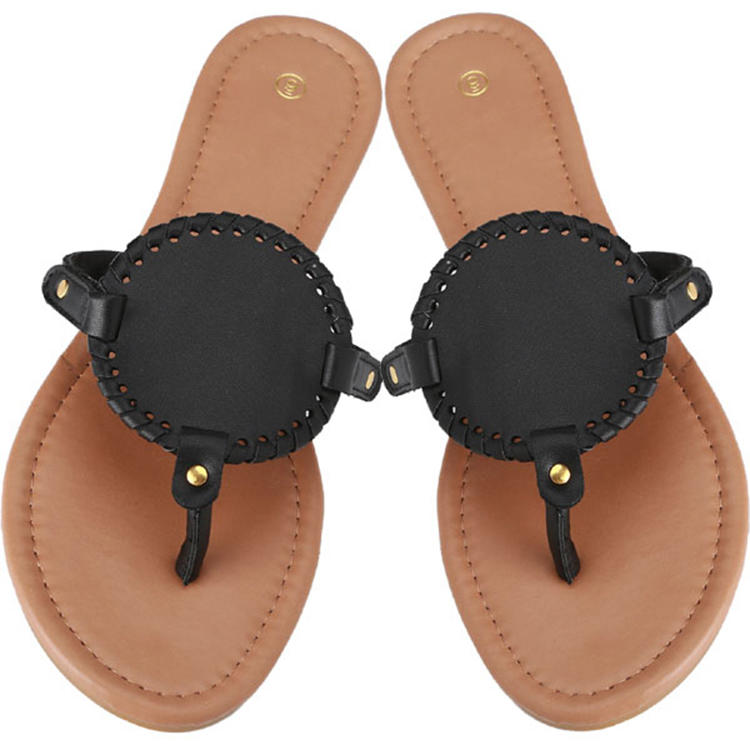MXDSD004 high quality summer female flat blank sandals
