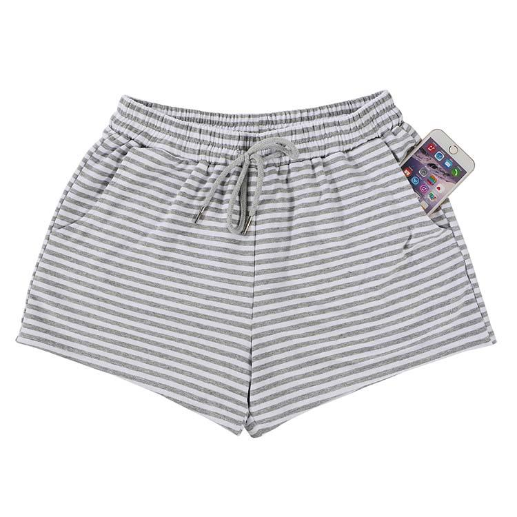 MXDSS452 2019 New Embroidered Stripe Shorts Women