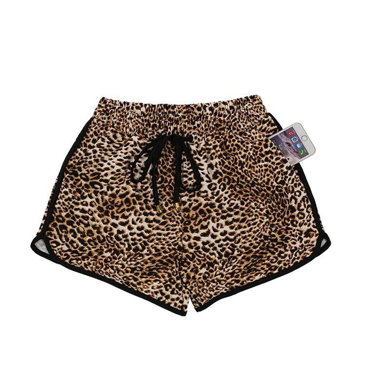 MXDSS461 Wholesale Leopard Printed High Waisted Women Shorts