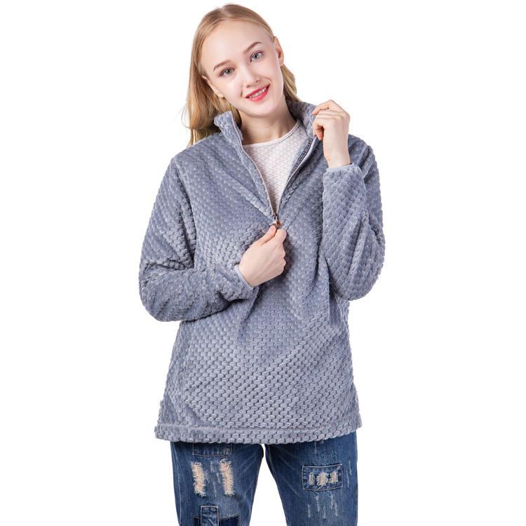 Yiwu Factory Hot Selling Women Pineapple Fleece Sherpa Pullover MXDSS539