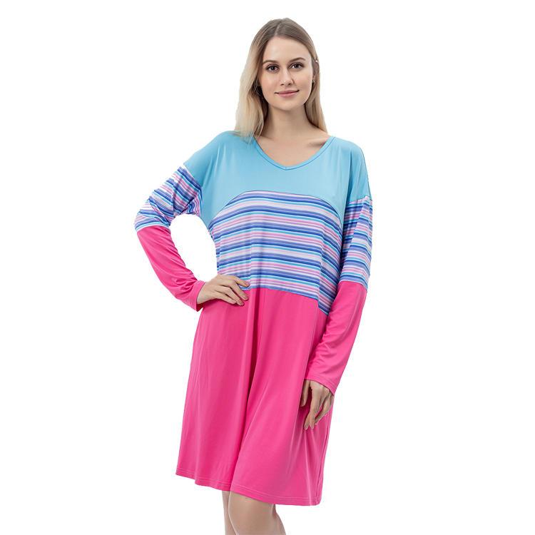 2020 Summer New Arrival Women Long Sleeve Color Block Dress MXDSS766