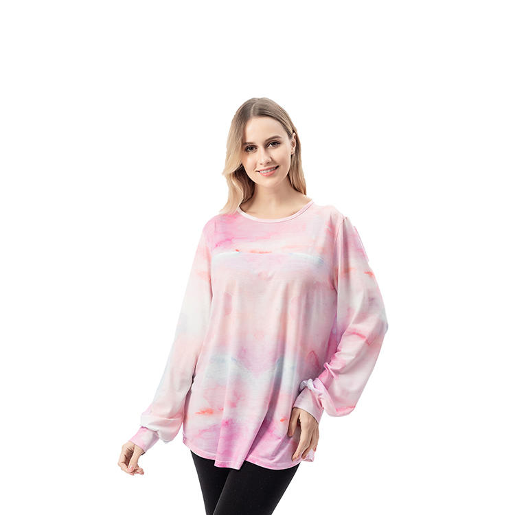 Yiwu Wholesale Women Tie Dye Long Sleeve Tops MXDSS740