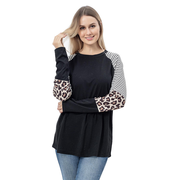 Color Block Women Long Sleeve Tops MXDSS767