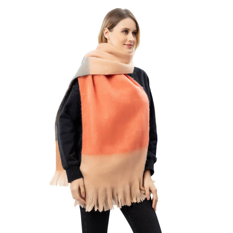 2020 Factory New Arrival Color Block Women Scarf Cashmere Scarf MXDSS583
