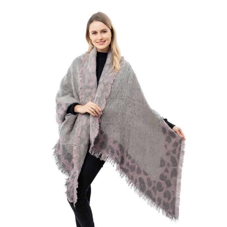 Yiwu Factory Leopard Printing Women Cashmere Scarf MXDSS580